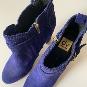 Blue Suede Thora Booties by Dolce Vita